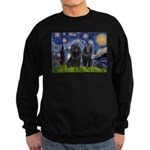 Starry Night & Schipperke Sweatshirt (dark)