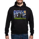 Starry Night & Schipperke Hoodie (dark)