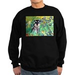Irises / Miniature Schnauzer Sweatshirt (dark)