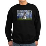 Lilies (#6) & Schnauzer #7 Sweatshirt (dark)
