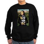Mona Lisa's Schnauzer (#6) Sweatshirt (dark)