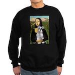Mona Lisa/Schnauzer (#2) Sweatshirt (dark)