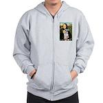Mona Lisa/Schnauzer (#2) Zip Hoodie