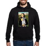 Mona Lisa/Schnauzer (#2) Hoodie (dark)