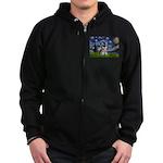 Starry / Schnauzer Zip Hoodie (dark)
