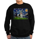 Starry Night /Schnauzer(#8) Sweatshirt (dark)