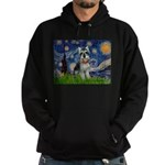 Starry Night /Schnauzer(#8) Hoodie (dark)