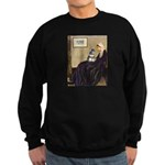 Whistler's Mother /Schnauzer Sweatshirt (dark)
