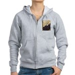 Whistler's Mother /Schnauzer Women's Zip Hoodie