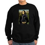 Mona Lisa /giant black Schnau Sweatshirt (dark)