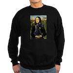 Mona Lisa /giant black Schnau Sweatshirt (dark)