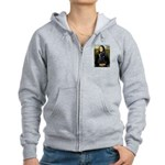 Mona Lisa /giant black Schnau Women's Zip Hoodie