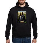 Mona Lisa /giant black Schnau Hoodie (dark)
