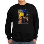 Cafe & Giant Schnauzer Sweatshirt (dark)