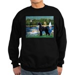 SCHNAUZER & SAILBOATS Sweatshirt (dark)