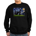 Starry Night / Schnauzer Sweatshirt (dark)