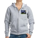 Starry Night / Schnauzer Women's Zip Hoodie