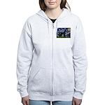 Starry Night / Schnauzer Women's Zip Hoodie