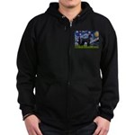 Starry Night / Schnauzer Zip Hoodie (dark)