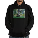Lily Pond Bridge/Giant Schnau Hoodie (dark)