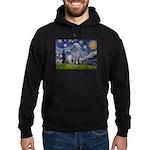 Starry /Scot Deerhound Hoodie (dark)