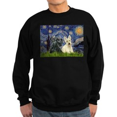 Starry /Scotty pair Sweatshirt (dark)