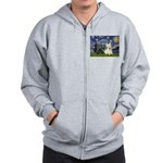 Starry /Scotty pair Zip Hoodie