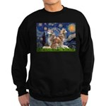 Starry Night Red Husky Pair Sweatshirt (dark)