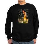 Fairies / Tibetan Spaniel Sweatshirt (dark)