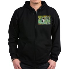 Irises / Toy Fox T Zip Hoodie (dark)
