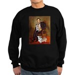 Lincoln's 2 Corgis (Pem) Sweatshirt (dark)