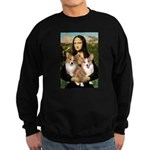 Mona / Corgi Pair (p) Sweatshirt (dark)