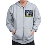 Starry Night / Welsh Corgi Zip Hoodie