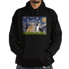 Starry Night / Corgi pair Hoodie