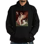 Seated Angel & Wheaten Hoodie (dark)