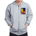 Cafe & Whippet Zip Hoodie