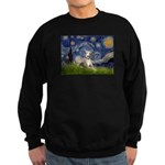 Starry Night Whippet Sweatshirt (dark)
