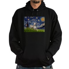 Starry Night Whippet Hoodie (dark)