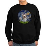 Starry Night Yorkie (T) Sweatshirt (dark)