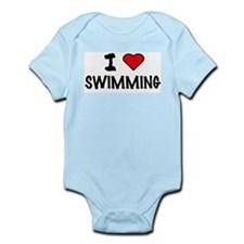 I LOVE SWIMMING Infant Creeper