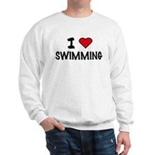 I LOVE SWIMMING Sweatshirt