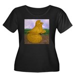Yellow ET Pigeon Women's Plus Size Scoop Neck Dark