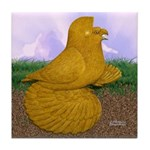 Yellow ET Pigeon Tile Coaster