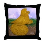 Yellow ET Pigeon Throw Pillow