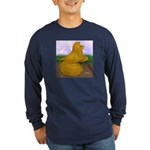 Yellow ET Pigeon Long Sleeve Dark T-Shirt