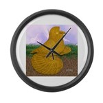 Yellow ET Pigeon Large Wall Clock