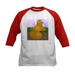 Yellow ET Pigeon Kids Baseball Jersey