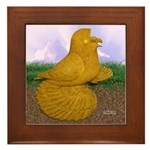 Yellow ET Pigeon Framed Tile
