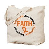Leukemia Faith Tote Bag