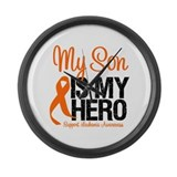 Leukemia Hero Large Wall Clock